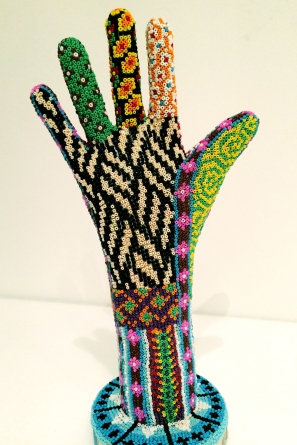 Hand decorated with beads